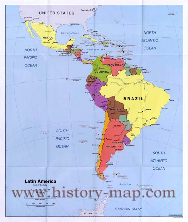 Map of Latin-America