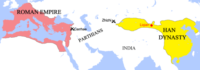 Roman and Han Chinese Empires Compared--200 AD