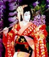 Japanese Kabuki Theater Actor---The Male Actor Impersonates the Female Character in Kabuki