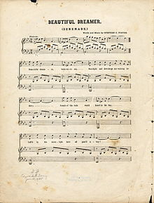 Beautiful Dreamer--The Last Song Composed by Stephen Foster before his Death
