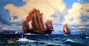 Chinese Treasure Fleet Under Zheng He--Seventy Years Before Columbus