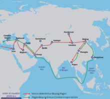 Route of the Travels of Marco Polo