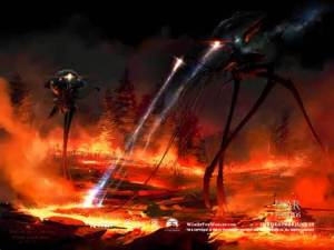Where can i find credible essays on War of the worlds by HG Wells for free?