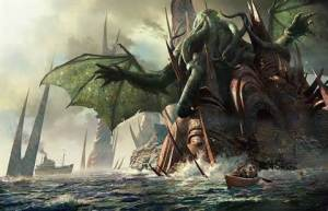 Cthulhu R'Lyeh Rising---by Horror Grandmaster H.P. Lovecraft