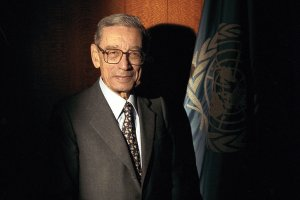 Former United Nations Secretary-General Boutros Boutros-Ghali (1922-2016)